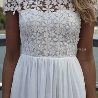 SPLENDED ANGEL DRESS , DRESSES, TOPS, BOTTOMS, JACKETS & JUMPERS, ACCESSORIES, 50% OFF SALE, PRE ORDER, NEW ARRIVALS, PLAYSUIT, COLOUR, GIFT VOUCHER,,White,LACE Australia, Queensland, Brisbane