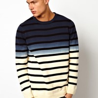 Jack & Jones Sweater With Dip Dye Strip