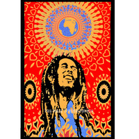 Bob Marley Tapestry, Hippie Rasta Tapestry Wall Hanging Bedspread Bedding on RoyalFurnish.com