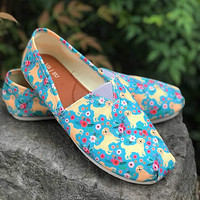 Golden Retriever Flower Casual Shoes-Clearance