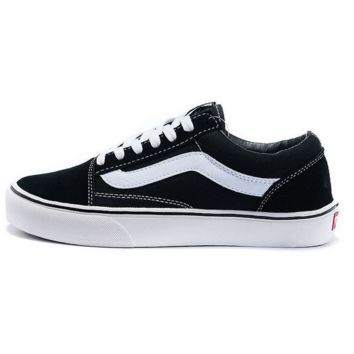 """""""Vans"""" With Warm Casual Shoes Men and women classic black cloth shoes"""