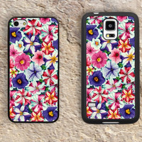Floral Flowers Pattern Love  iPhone Case-iPhone 5/5S Case,iPhone 4/4S Case,iPhone 5c Cases,Iphone 6 case,iPhone 6 plus cases,Samsung Galaxy S3/S4/S5-153