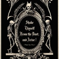 The Undead Arise Gothic Macabre Art Print by TigerHouseArt on Etsy