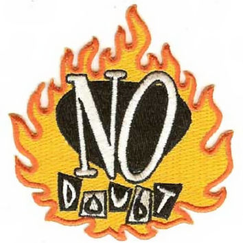 No Doubt Iron-On Patch Flame Logo