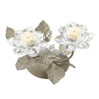 Crystal Flower Centerpiece Candle Holder