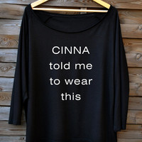 CINNA told me. The Hunger Games inspired. 2 colors Oversize Fashionable Blouse. Very silky & soft. Woman's T-shirt. Gift for her. MOCKINGJAY