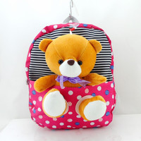 2017 children school bags cute infant walking wings backpacks cartoon bear for kid bags kindergarten mochilas escolares infantis