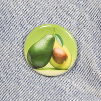 Avocado 1.25 Inch Pin Back Button Badge