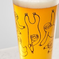 Sloth Pint Glass | Urban Outfitters