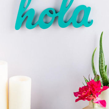Hola Wood Wall Decor