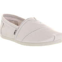 Toms Classic Slip On White Canvas - Flats