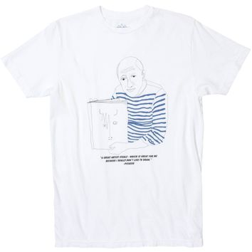 Picasso Sketchy Sketch graphic tee by Altru Apparel