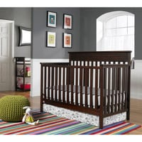 NEW Baby, Infant Crib 4-in-1 Convertible & MATTRESS Nursery Crib Set Baby Bundle