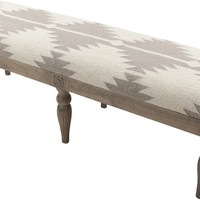 Surya Furniture Ivory Rectangle Bench FL-1170