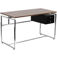 Computer Desk with Two Drawer Pedestal