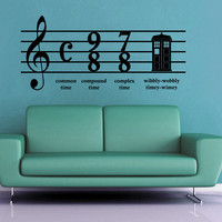 Wibbly Wobbly Time - Doctor Who Wall Decal