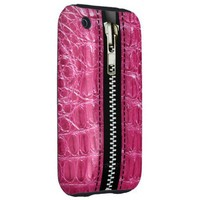 Zip It Up Alligator hard plastic (hot pink) Tough iPhone 3 Cases from Zazzle.com
