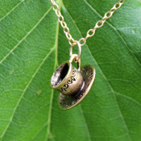 Tea Cup Charm Necklace - Gold Filled