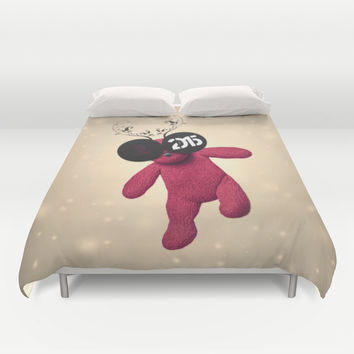 Little Pink Bear said :: Happy New Year 2015 :) '' Duvet Cover by LilaVert