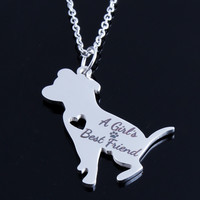 A Girl's Best Friend Charm Choker Chain Statement Necklace