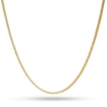2mm 14K Yellow Gold Franco Hip Hop Chain