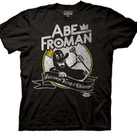 Ferris Bueller's Day Off Abe Froman Sausage King Black Mens T-shirt - Ferris Bueller's Day Off - | TV Store Online