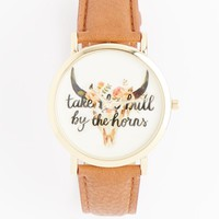 Tan Bull by the Horns Rose Gold Watch | Watches | rue21