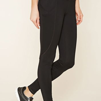 Active Colorblocked Leggings   Forever 21 - 2000176875
