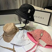 GUCCI solid color men's and women's fisherman hat