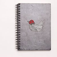 """Red Doodle Bird Die Cut Sticker // Woodland Decal // Journal & Tablet Medium Size // 5"""" // Perfect For Indoor, Outdoor, Laptop, Car"""