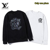 LV Louis Vuitton Autumn and winter fashion casual colorful reflective printing sweater