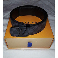 LOUIS VUITTON LV Black Damier Belt Size 95 Tagre™
