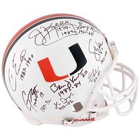 Miami Hurricanes Quarterback Legends Signed Proline Helmet COA Fanatic Autograph