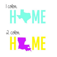 Home State Decal - Any State - Any Color - Any Size -  Glitter - Perfect for Yeti , Car, Laptop and More!