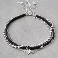 AEO Silver Star Choker 3-Pack, Silver