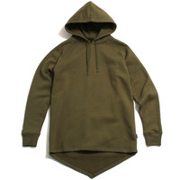 Fishtail Pullover Hoody Olive