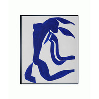 The Flowing Hair By Henri Matisse: 20 X 24 Oil Painting Reproduction With Studio Black Woo