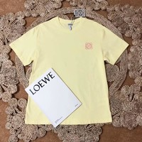 """Loewe"" Women Sweet Casual Simple Embroidery Short Sleeve T-shirt Top Tee"