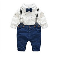Spring baby clothes baby clothing set autumn long sleeve cotton baby rompers+pants 2pcs toddler clothes set