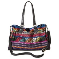 Mossimo Supply Co. Geometric Print Weekender Handbag with Removable Shoulder Strap - Multicolored