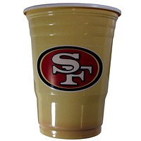 San Francisco 49ers Plastic Game Day Cups