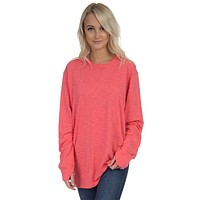 Slouchy Tee in Coral by Lauren James