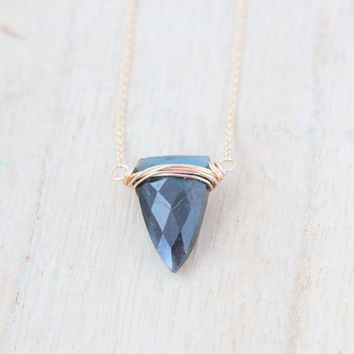 Finn Necklace -  Labradorite
