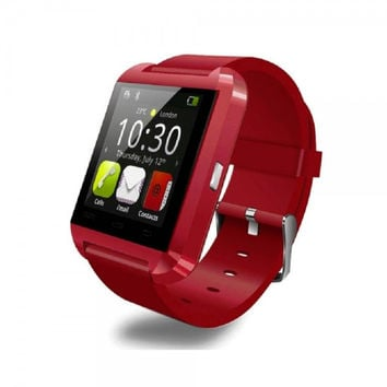 Bluetooth Smart Wrist Watch Phone Mate For IOS Android Samsung iPhone6 HTC Red