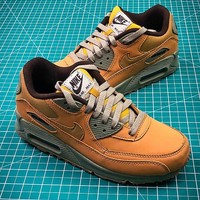 Nike Air Max 90 Yellow Sport Running Shoes - Best Online Sale