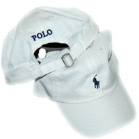 Polo Ralph Lauren Baseball Cap Unisex/child White/ Navy Pony