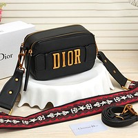 Dior CD classic double-layer zipper bag, ladies one-shoulder messenger bag