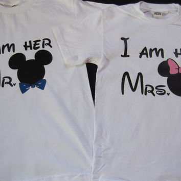 Free Shipping for US Mickey and Minnie Mr and Mrs Couples Shirts