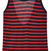 T by Alexander Wang - Striped stretch-jersey tank