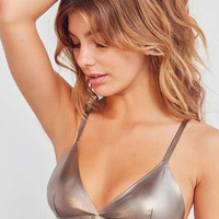 Out From Under Metallic Triangle Bra | Urban Outfitters